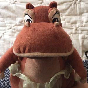 Disney Fantasia Hyacinth Hippo Ballerina Plush